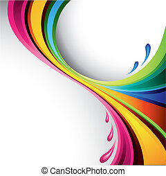 éclaboussure, conception, coloré