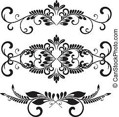 éléments, stylique floral