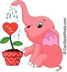 éléphant, dessin animé