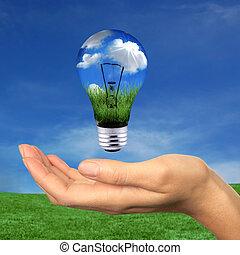 énergie, dans, portée, renouvelable