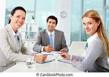 équipe bureau, business