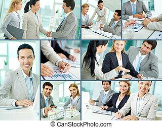 équipe travail, business