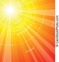 été, chaud, soleil