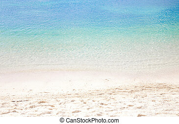 été, plage, fond