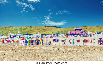 été, scène plage