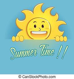 été, soleil, signe, tenue, temps, heureux