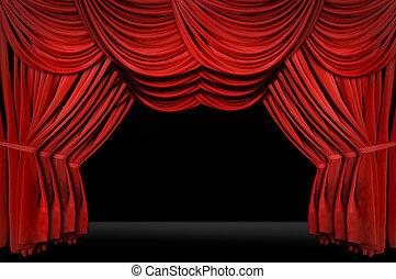 étape, façonné, vieux, théâtre, horozontal, élégant