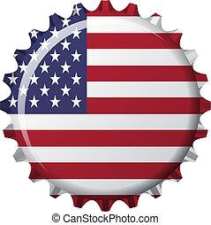 état uni, casquette, couronne, drapeau, forme, amérique