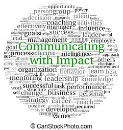 étiquette, concept, mot, nuage, communiquer
