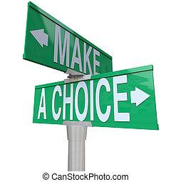 -, faire, bidirectionnel, alternatives, choix, rue, entre, 2, signe