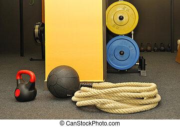 -, fitness, crise, fonctionnel, croix
