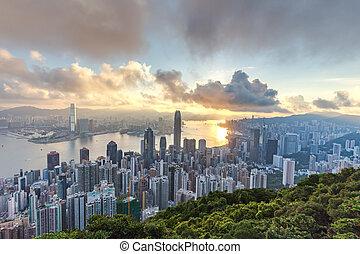 -, kong, 2015:, cityscape, 03, pic, août, hong, horizon