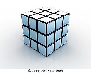 #1, cube, rubik's, 3d