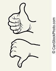 1, signes main