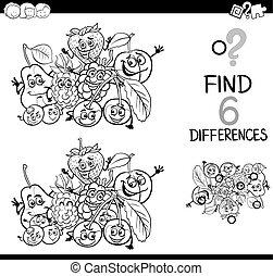 137, différences, bw