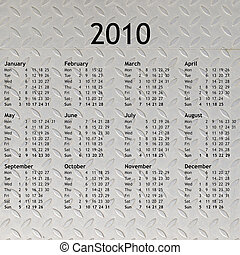 2010, calendrier