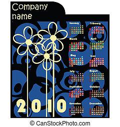 2010, promotionnel, calendrier