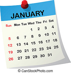 2014, calendrier, january.