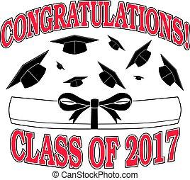 2017, félicitations, classe