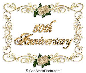 50th, roses, anniversaire