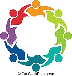 8, image, coéquipiers, business, logo