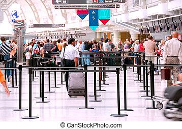 aéroport, foule