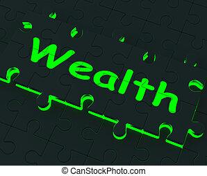 abondance, puzzle, projection, richesse, richesse