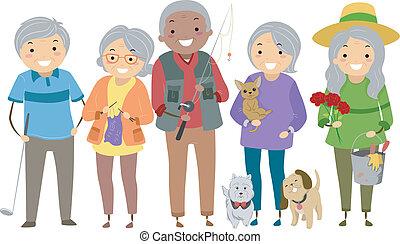activités, personnes troisième âge