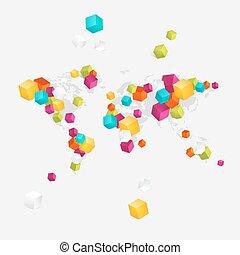 affaires mondiales, carte