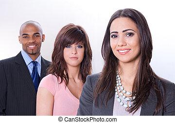 affaires multiculturelles, équipe