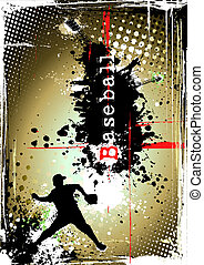affiche, base-ball, sale