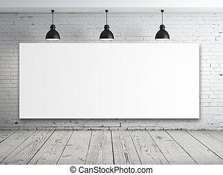 affiche, blanche salle