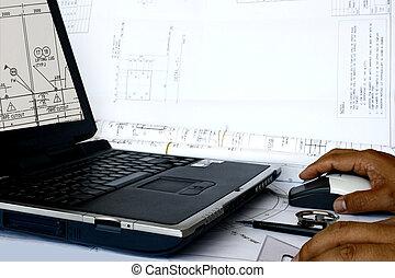 aidé, informatique, conception