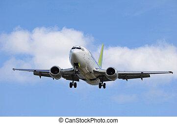 aller, avion, jet, terre