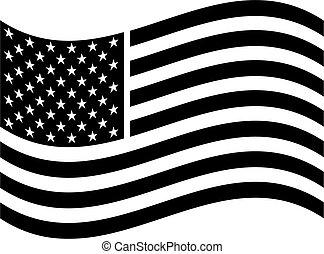 américain, art, drapeau, agrafe