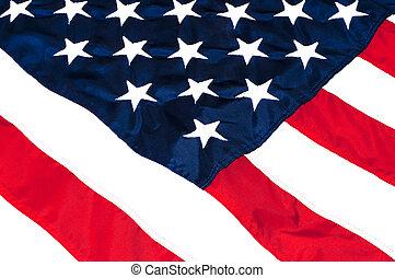 américain, closeup, drapeau