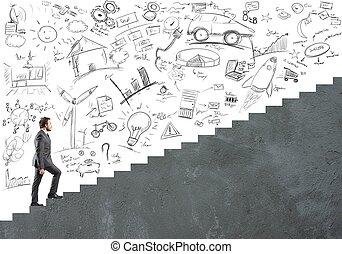 ambition, carrière, homme affaires