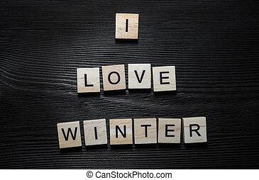amour, hiver, concept