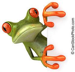 amusement, vide, grenouille, signe