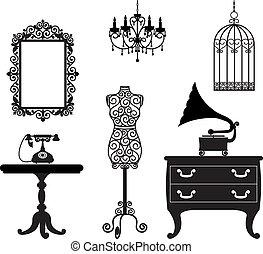 antiquité, meubles