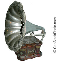 antiquité, phonographe