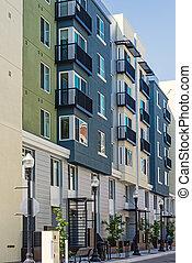 appartement, nouveau, bâtiment