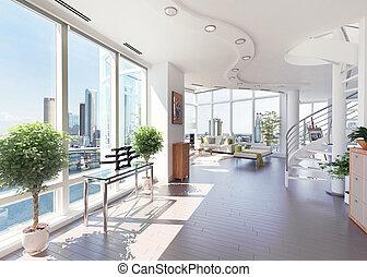 appartement terrasse, moderne