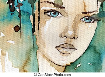 aquarelle, illustration