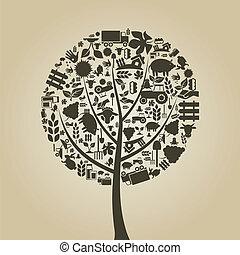 arbre, agriculture