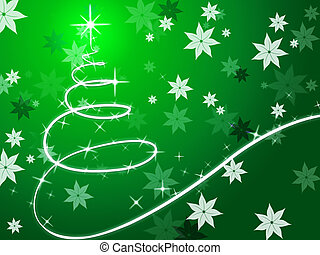 arbre, fleurs, fond, spectacles, noël, vert, décembre