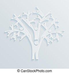 arbre, gens