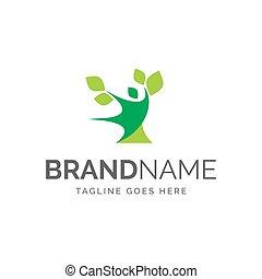 arbre, logo, gens