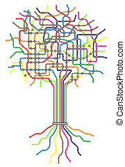 arbre, métro