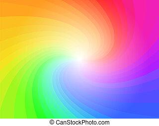 arc-en-ciel, résumé, coloré, modèle fond